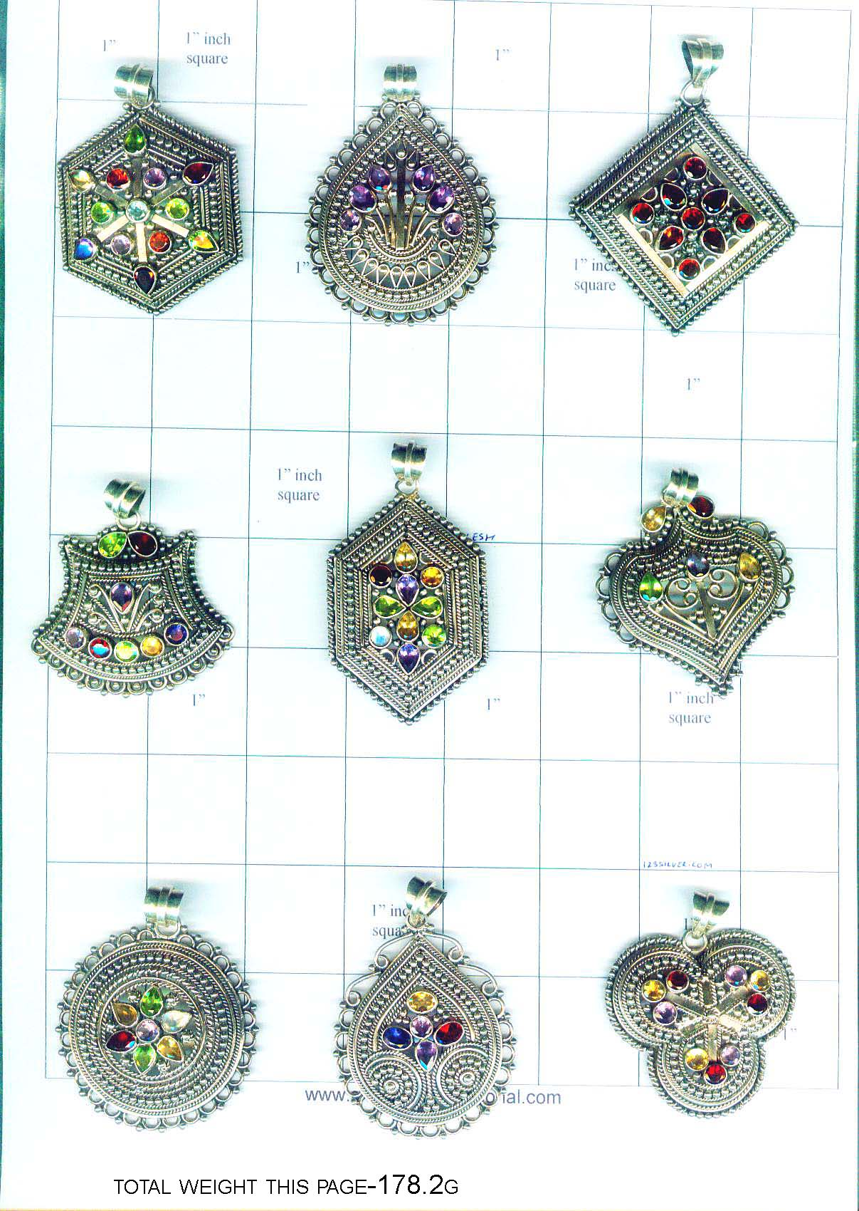 Wholesale sterling silver gem stone pendants from india silver and click photos to enlarge aloadofball Images