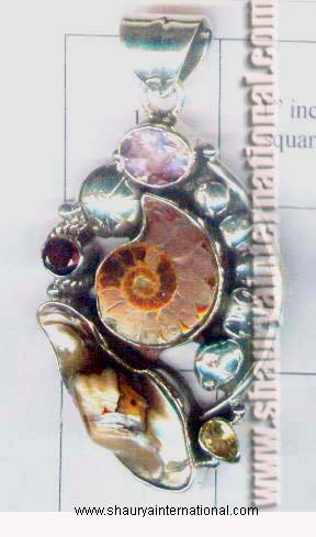 Wholesale lot of ammonite pendants orthocerous pendants wholesale ammonite jewelry from jaipur india aloadofball Images