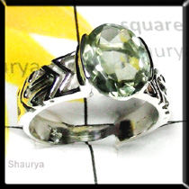 Green Amethyst Cut