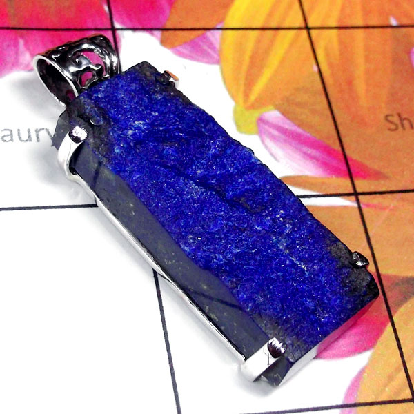 Lapis Rough Druzy-D - SPS999-Lapis Rough Druzy Natural Pendant