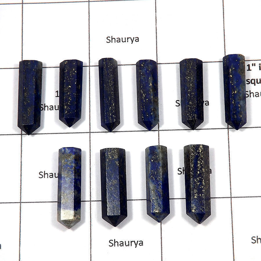 Lapis - F - MPG999 - 10 Pcs Wholesale Lots Newly Arrival Natural Blue Lapis Metaphysical Pointed Gemstone