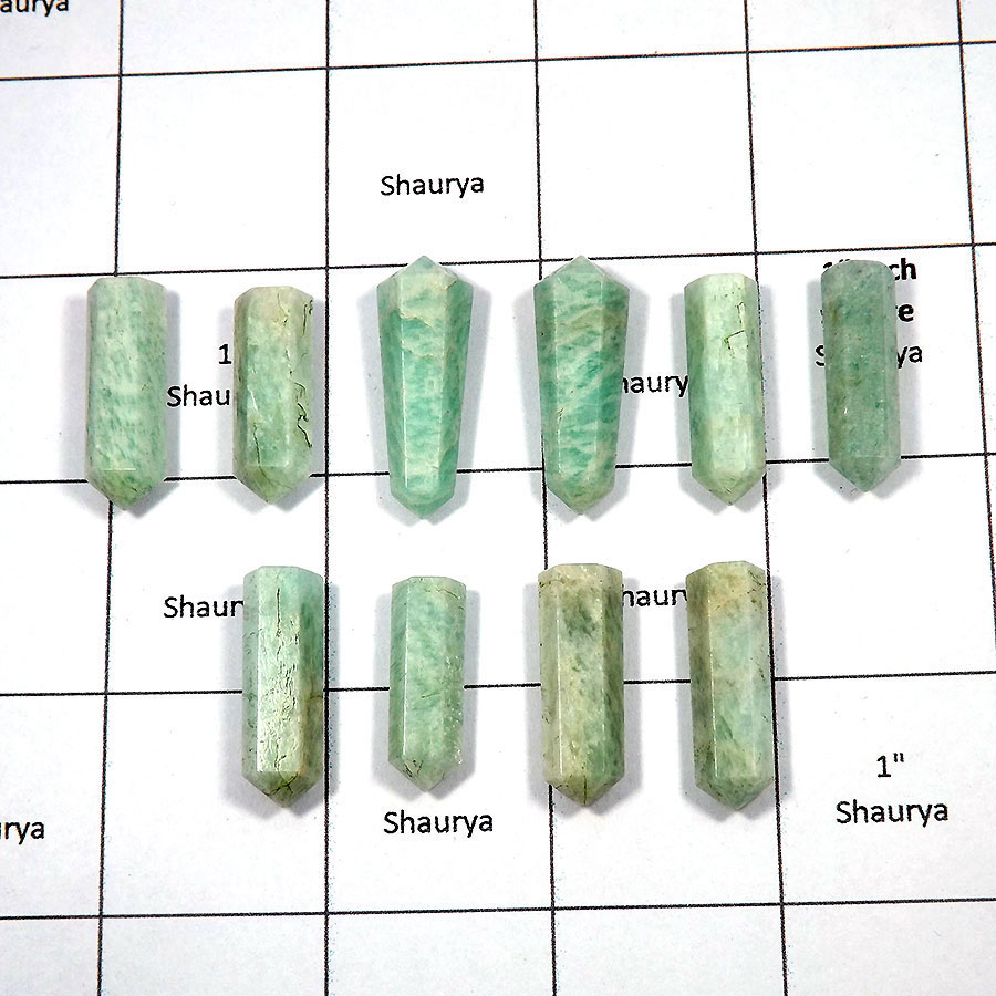 Amazonite - G - MPG999 - 10 Pcs Wholesale Lots Gorgeous Natural Amazonite Metaphysical Pointed Gemstone