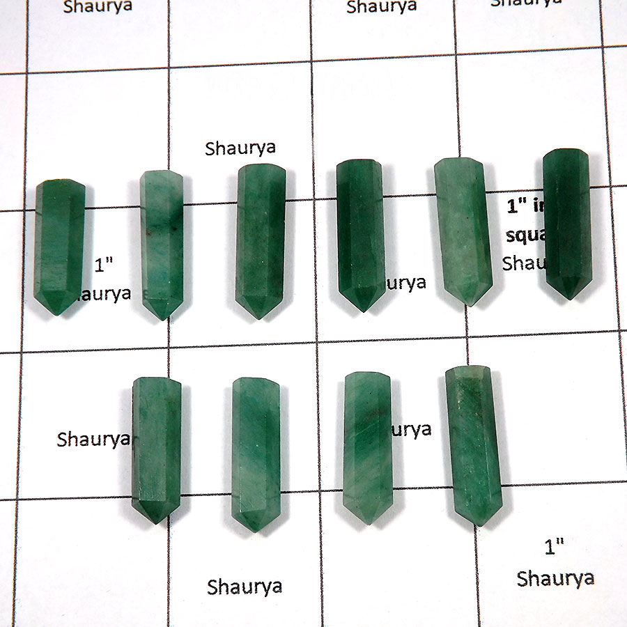 Green Aventurine - J - MPG999 - Natural Green Aventurine 10 Pcs Wholesale Lots Metaphysical Pointed Gemstone