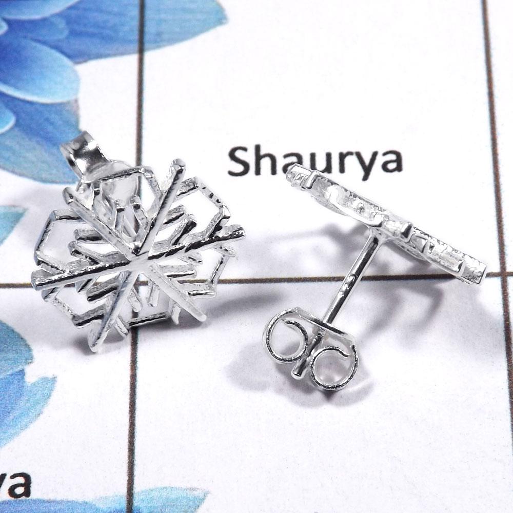 Plain Silver Earrings B Pcj986 Solid 925 Sterling Stud Whole Jewelry