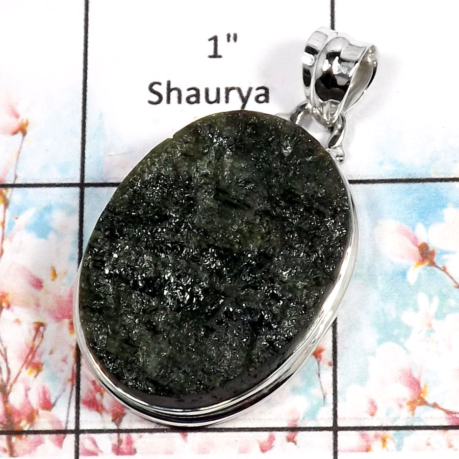 Green Tourmaline-J RPP966-Party Wear Rough Gemstone Handmade Pendant 925 Sterling Silver