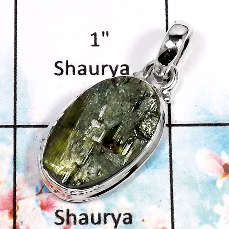 Green Tourmaline-P RPP966-Fabulous Green Tourmaline Handmade Wholesale Pendant 925 Sterling Silver