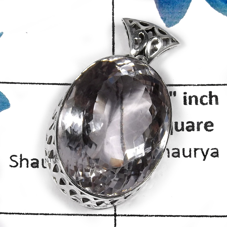 Crystal Quartz SALE813 -  Beautiful Cab Wholesale Handmade Chunky Pendants 925 Sterling Silver