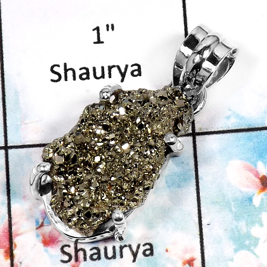 Pyrite J SPS889- New Eye catching Designer Pendent 925 Sterling Silver