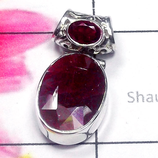 Ruby Cut C - SD860-Dynamical silver gems 925 Manufacturer Stunning Pendant