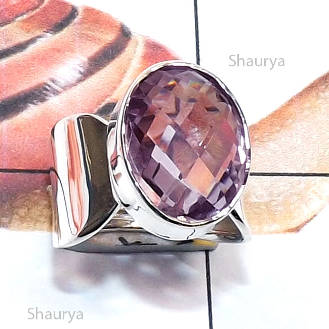Amethyst Cut F - RSS996-Genuine Cut n Cab Gemstone Made in 925 Silver Handmade St