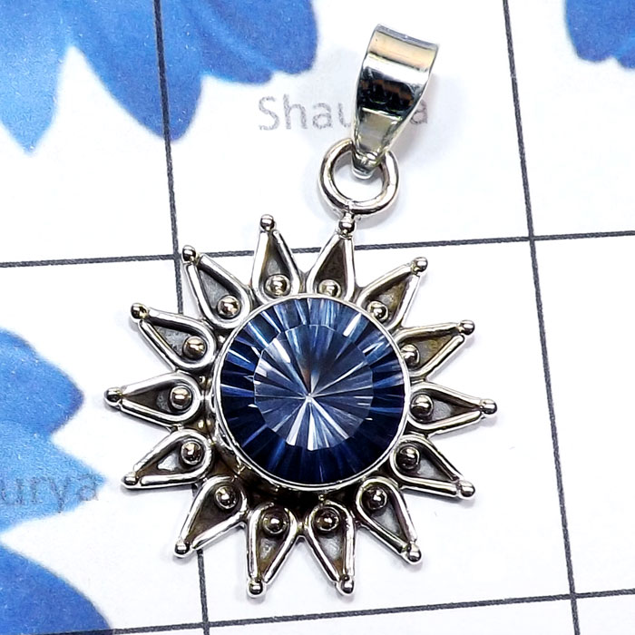 Blue Mystic D - SSP985-Semiprecious Gemstone Made in 925 Sterling Silver New Des