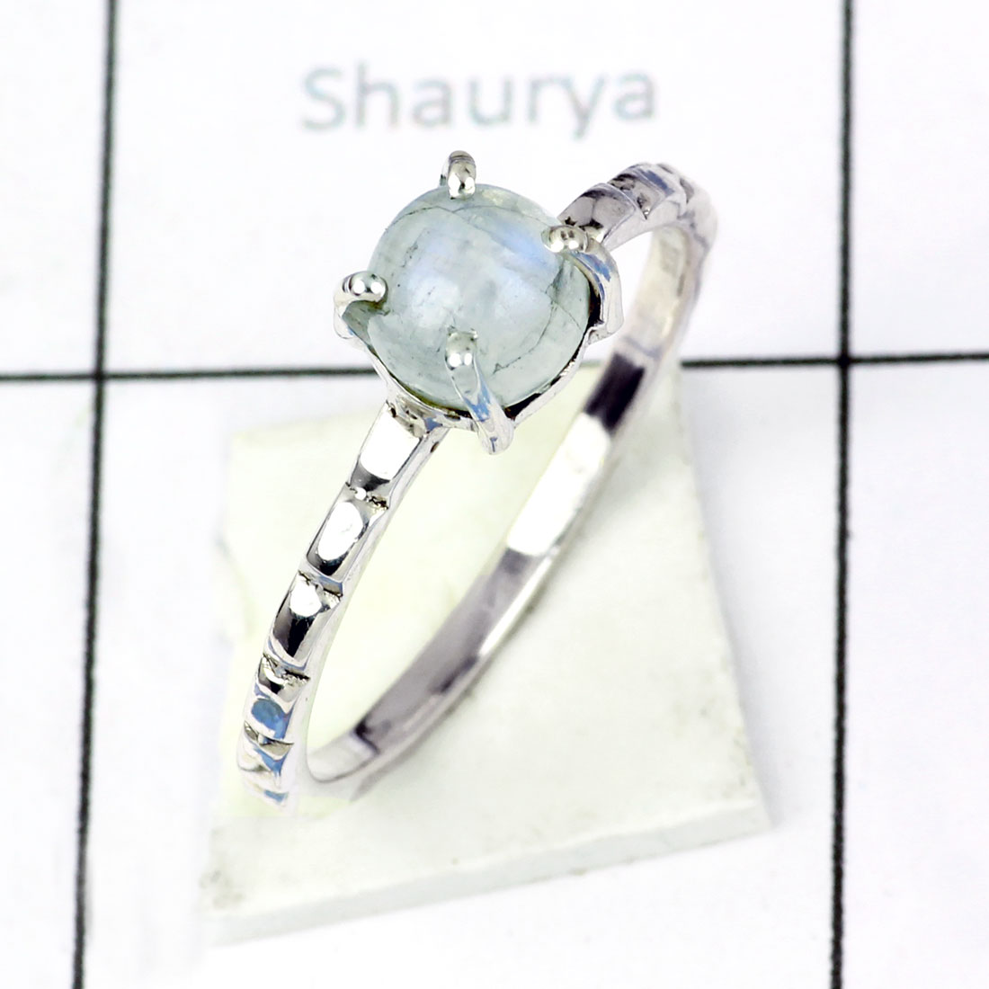 RAINBOW MOONSTONE C - BDR956- EXCLUSIVE NEW COLLECTION OF RAINBOW MOONSTONE RINGS MADE