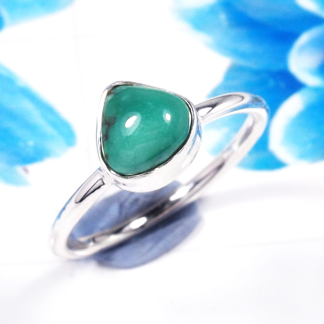 Turquoise B - RSS926-925 Sterling Silver Gorgeous Fashionable Preety Design Ri
