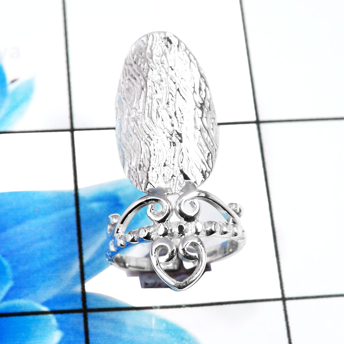 Nails Ring D - SNR997-Stylish 925 Sterling Silver Stylish Designer Nails Ring W