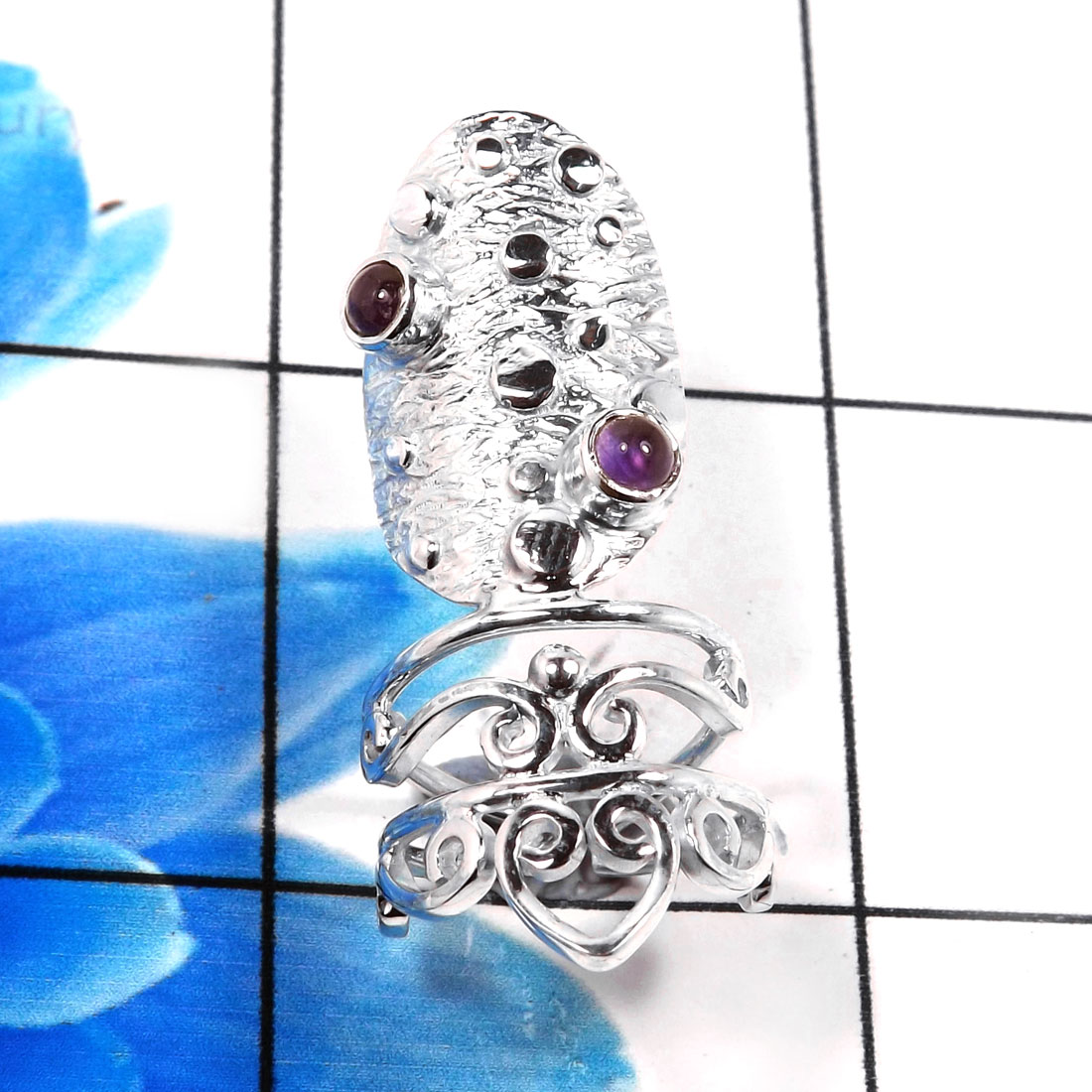 Nails Ring G - SNR994-Amazing Designer Handmade 925 Sterling Silver Nails Ring