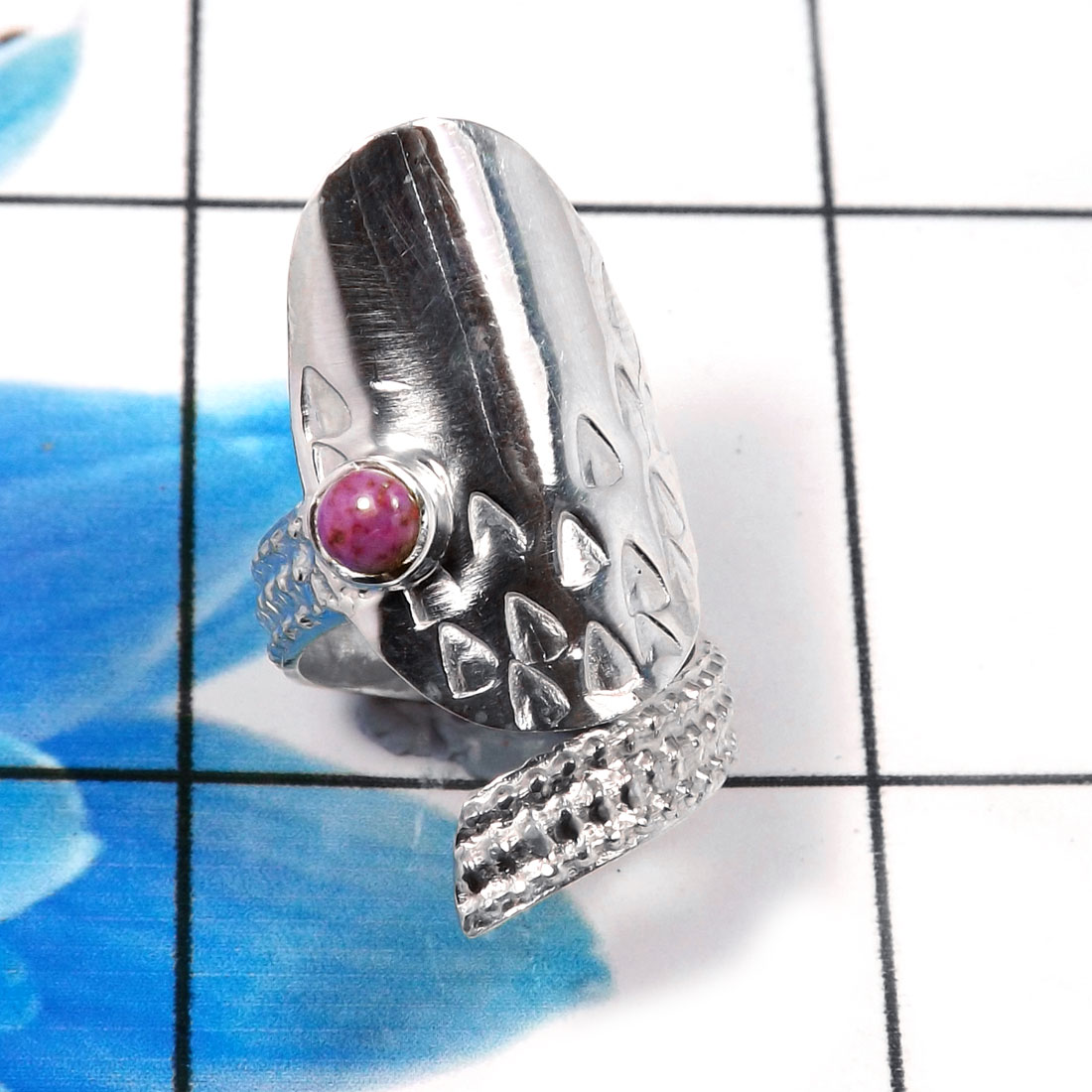 Nails Ring F - SNR993-Charming 925 Sterling Silver Factory Handmade Nails Ring
