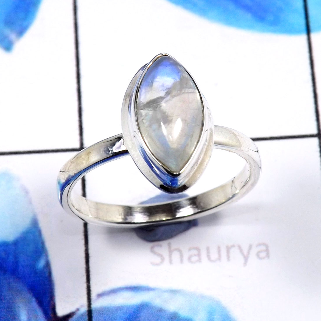 Rainbow Moonstone B - STK952-Beautiful Wholesale Handmade Fashionable Stacking Rings 9