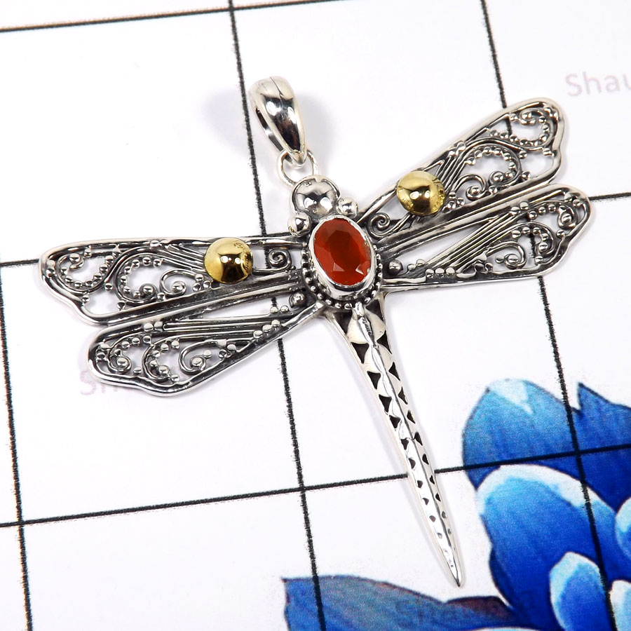 Carnelian Cut A - CSP936-Glamorous New Look Design Casting Pendants 925 Sterling S