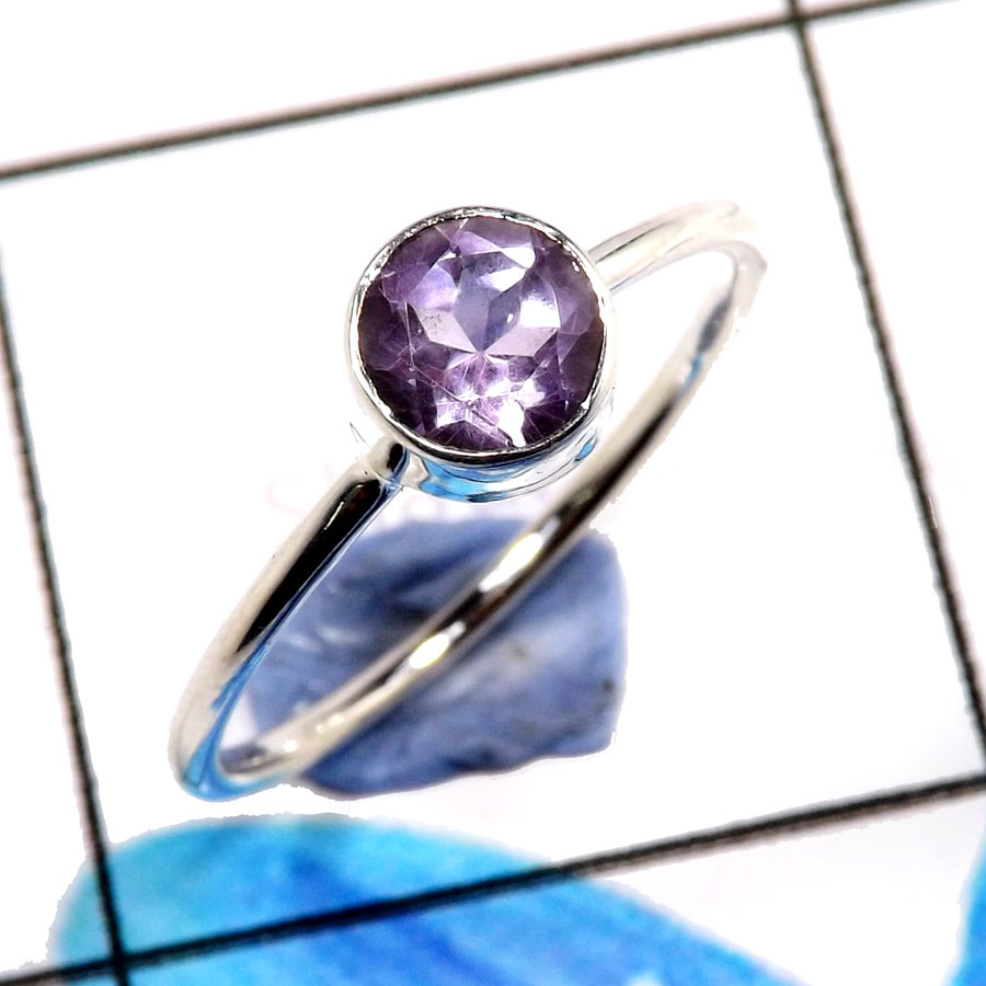 Amethyst Cut D - WHS993-Lovely Amethyst Cut Stylish Designer Rings 925 Sterling S