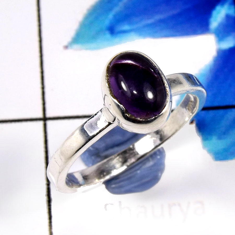 Amethyst Cab F - SHS993-Glorious Amethyst Cab Company Wholesale Rings 925 Sterlin