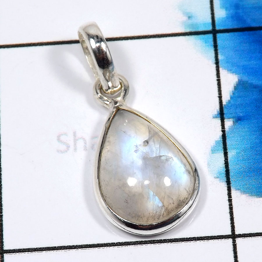 Rainbow Moonstone F - CMJ881-Sparkling Rainbow Moonstone Wholesale Designer Pendants 9