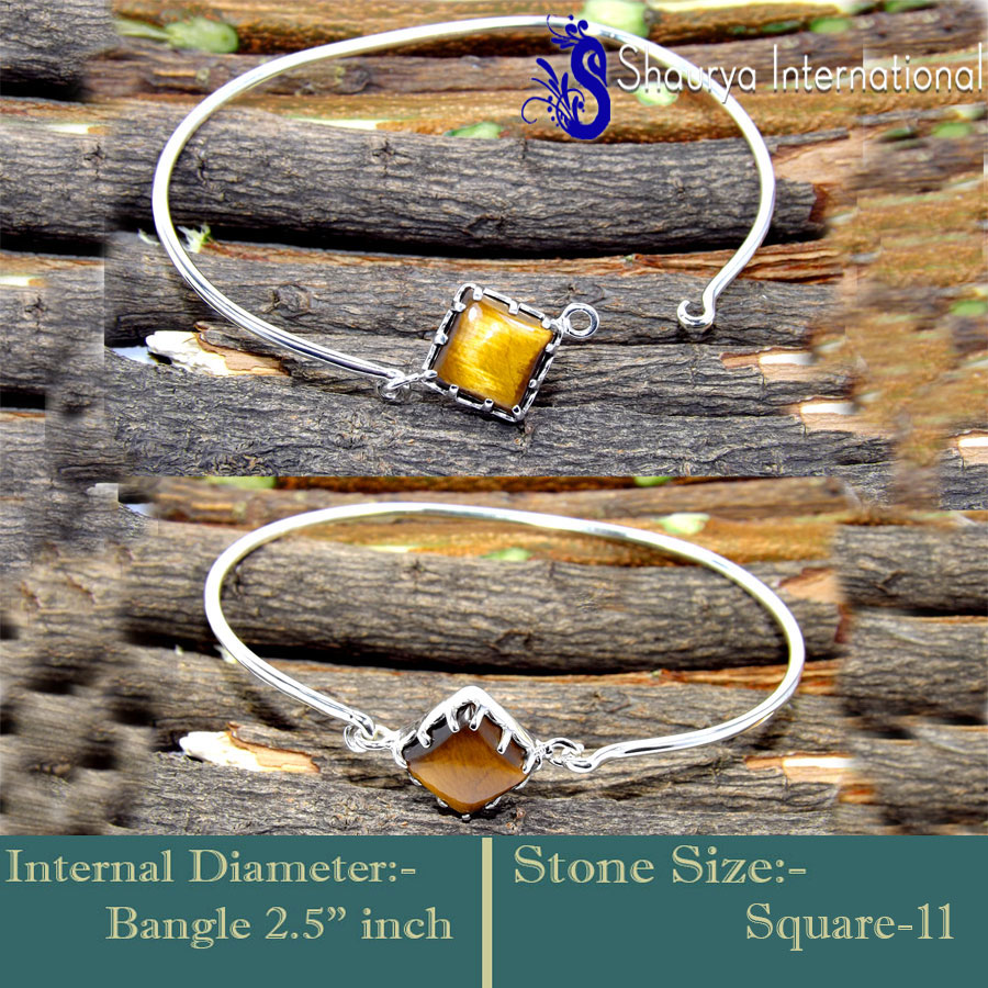 Tiger Eye O - SNB996-Openable Lovely Factory Wholesale Bangles 925 Sterling Si