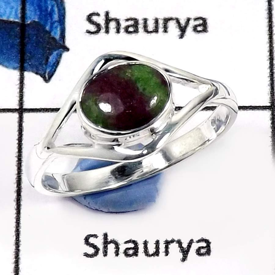 Ruby Zoisite C - CMJ777-Indian Wholesale Company Handmade Designer Baby Rings 925 Sterling Silver