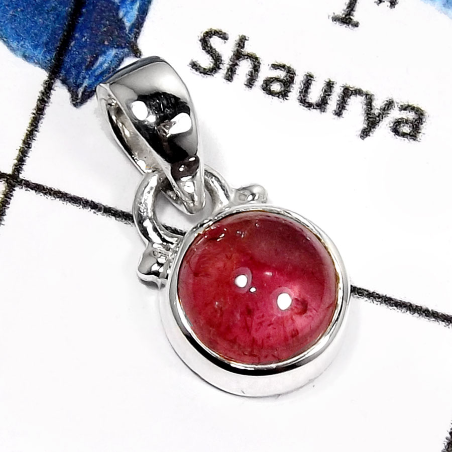 Tourmaline Cab O - SD450-Attracting Tourmaline Cab Handmade Designer Pendants 925 Sterling Silver