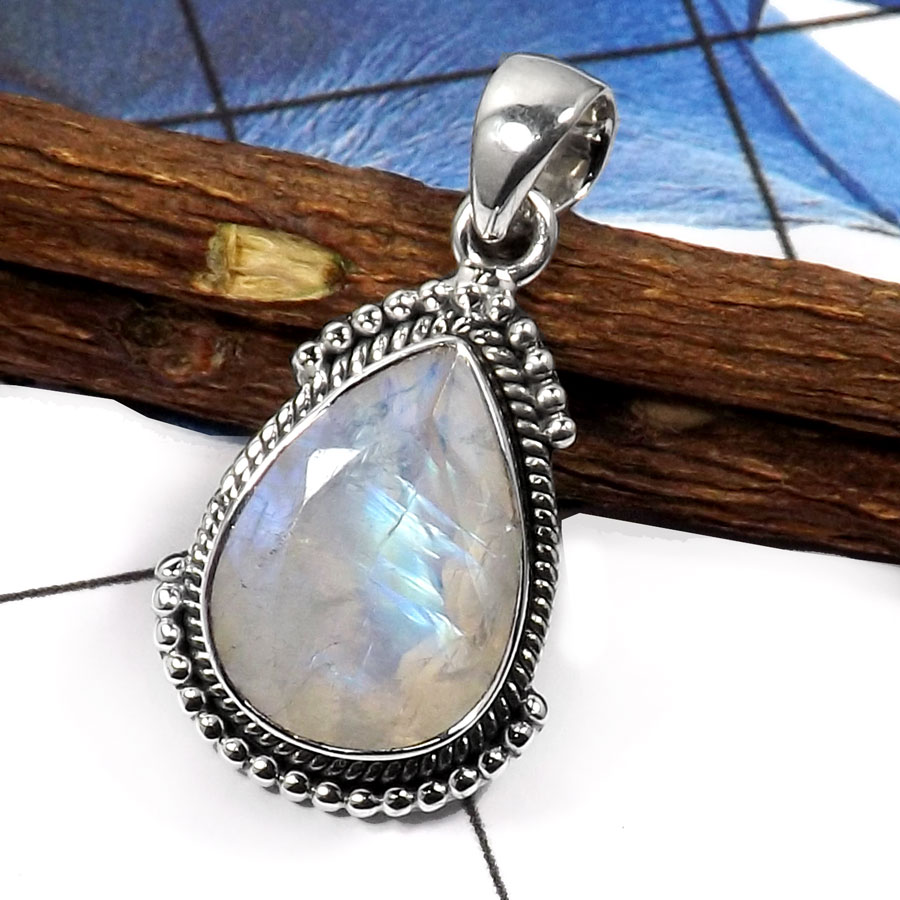 Rainbow moonstone cut g sd440 exclusive party look handmade rainbow moonstone cut g sd440 exclusive party look handmade designer for womens pendants 925 sterling silver aloadofball Images