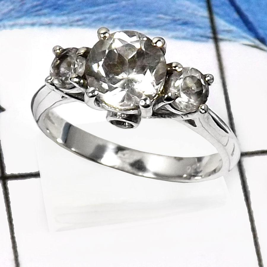 Crystal Quartz F Rss816 Stunning Three Stone Cut Gemstone