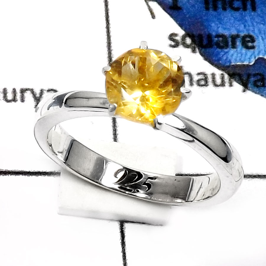 Citrine Cut A - SCR772-Elegant Party Look Casting Rings 925 Sterling Silver