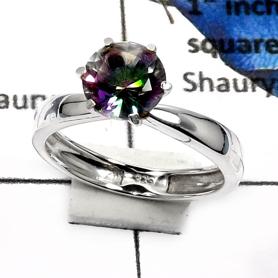 Mystic Quartz B - SCR772-Elegant Party Look Casting Rings 925 Sterling Silver
