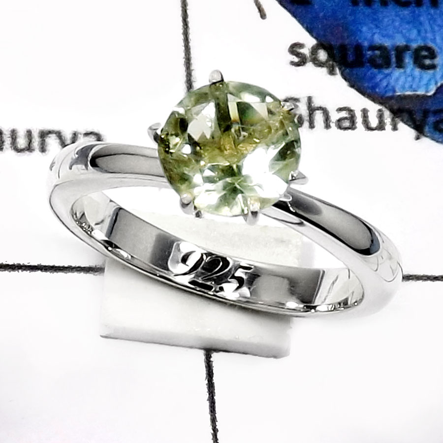 Green Amethyst D - SCR772-Elegant Party Look Casting Rings 925 Sterling Silver