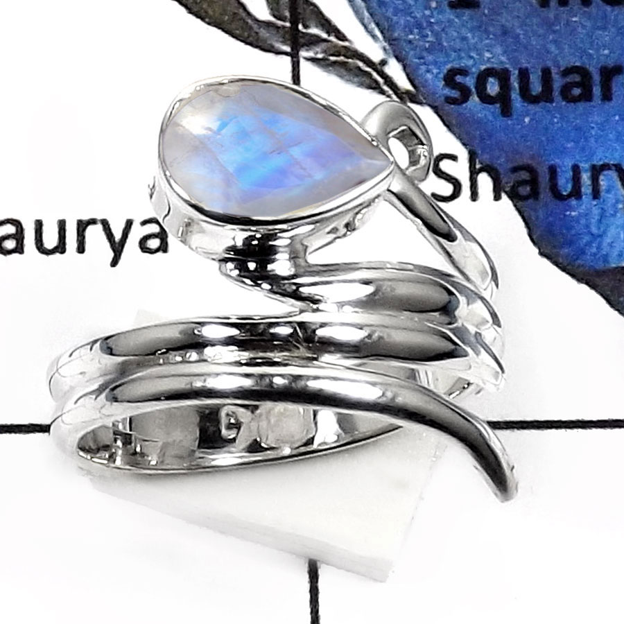 Rainbow Moonstone Cut B - SDR511-Attractive Cut Gemstone Handmade Fashion Rings 925 Sterling Silver