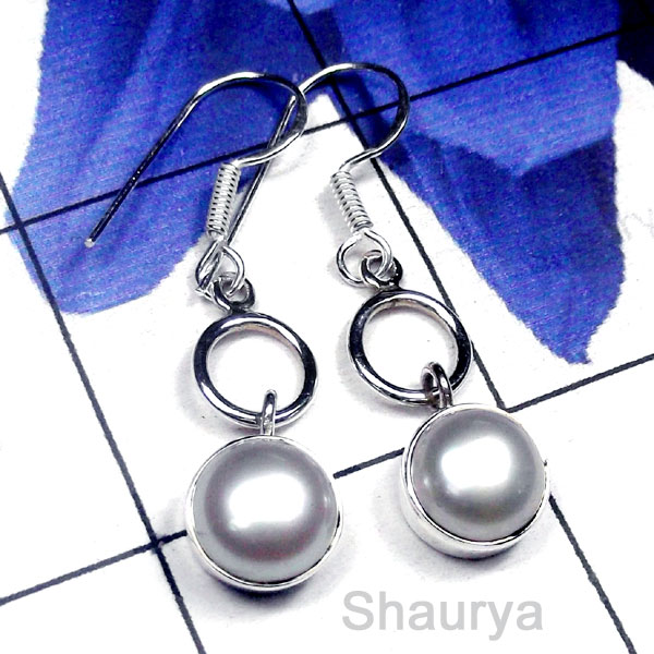 Pearl A - PPE993-Beautiful Pearl Gemstone Gorgeous Earring