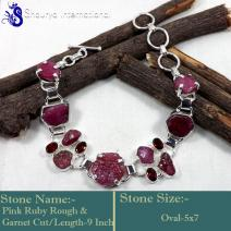 Rough Gemstone Bracelete