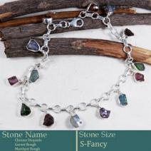 Rough Gemstone Anklet