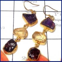 Rough Gemstone Earring