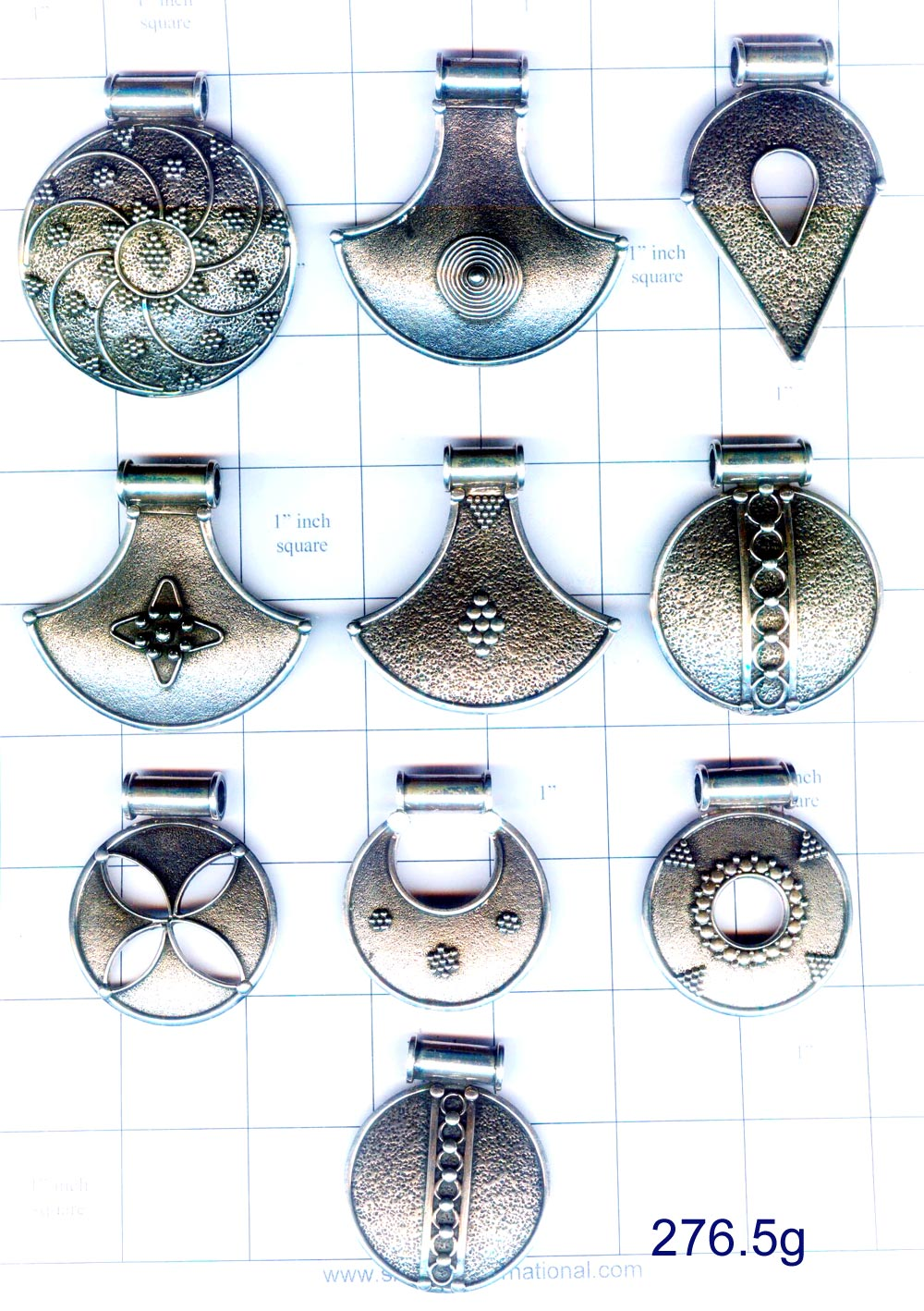 Ethnic plain sterling 925 silver pendants from jaipur india indian ethnic plain sterling 925 silver pendants aloadofball Images