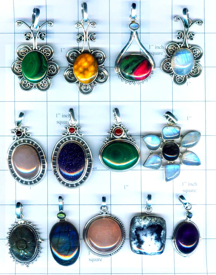 These Are Free Size Gemstone Pendants In Sterling Silver And Semi Precious Volume Price Of Is Indian Rus 59 00 Per Gram