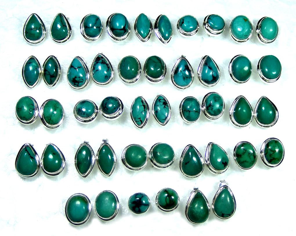 Wholesale Tibitan Turquoise Gemstone Earrings India